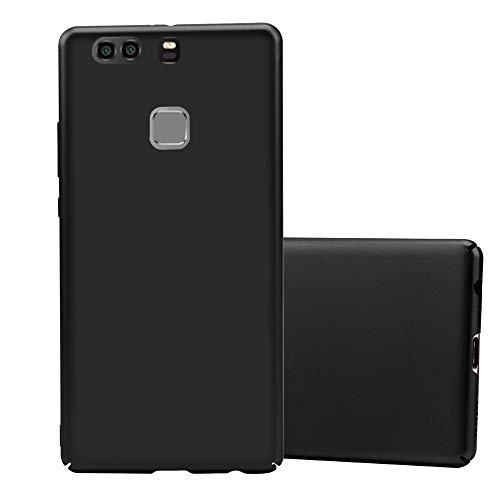 Cadorabo Hülle für Huawei P9 Plus in Metall SCHWARZ - Hardcase Handyhülle aus Plastik gegen Kratzer & Stöße - Schutzhülle Bumper Ultra Slim Back Hülle Hard Cover
