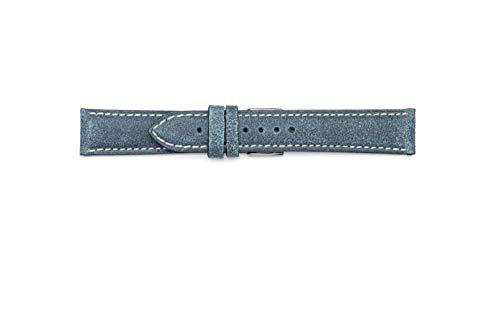 Cinturino Vintage in vera cuoio scamosciato. Made in Italy. 18mm 20mm 22mm...