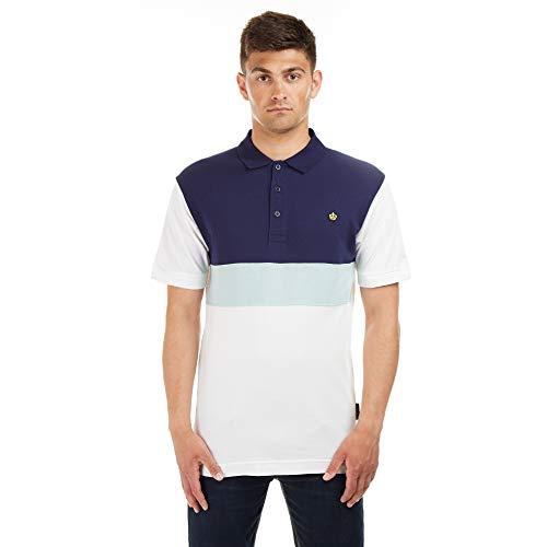 Putney Bridge Herren EARLSFIELD Polo Shirt Polohemd, Weiß (Vintage White Vwt), L