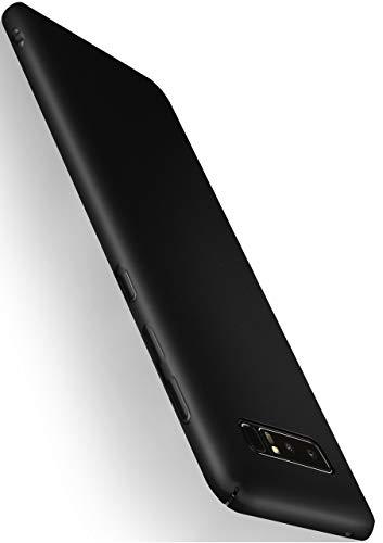 MoEx® Alpha Case Samsung Galaxy Note8 Hülle Dünn | Ultra-Slim Handyhülle - Metallic Schutzhülle Handy Cover, Matt Schwarz