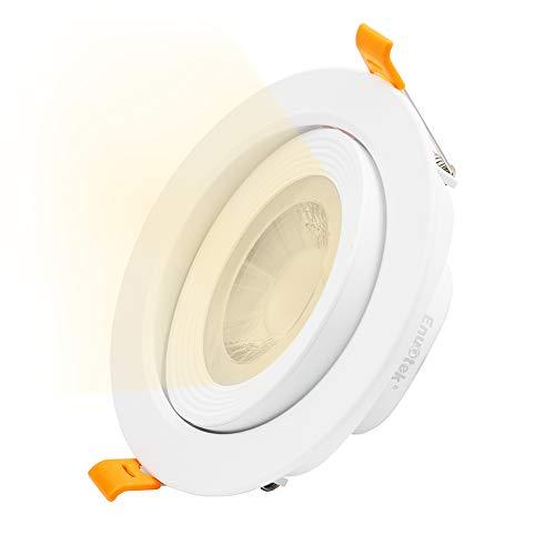 4 Zoll 12W LED Einbauspot Deckeneinbaustrahler Einbaustrahler Spot Lampe Schwenkbar Weiß 230V Ohne Trafo Warmweiß 3000K Abstrahlwinkel 40° 120-130MM Lochmaß 1er Pack von Enuotek