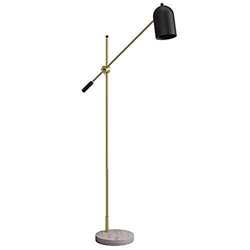 BINGFANG-W Dormitorio Inicio luz del Piso-Hierro Lámpara de mármol Base salón sofá de la cabecera de la lámpara de Ajuste de Altura del Piso Gama de iluminación Ascendente Lámparas de pie