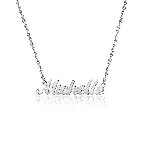 Hidepoo Michelle Jewelry Necklace – Personalized Name Pendant Necklace, Dainty Michelle Name Necklace Chain Jewelry Gifts for Women Girls
