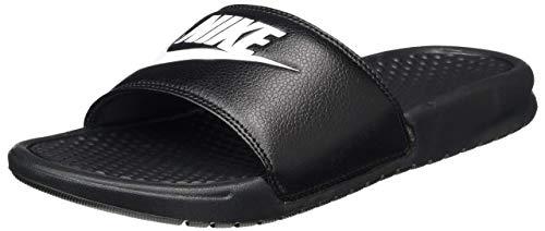 Nike Sandalias deportivas Benassi Solarsoft Slide para hombre, (Negro/Blanco/Negro), 42.5 EU