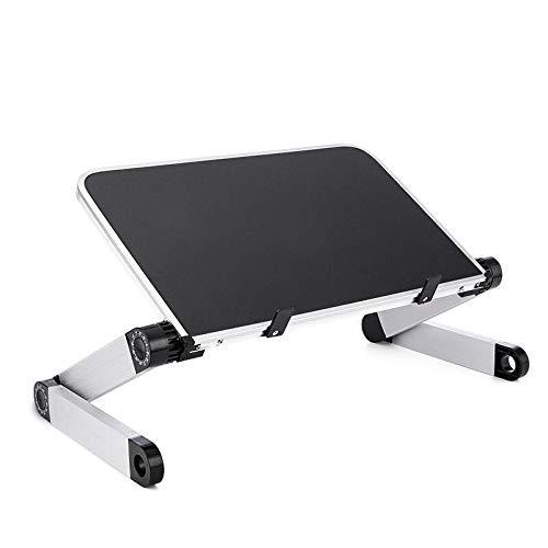TIUENHAVU Soporte portátil aleación de Aluminio portátil Plegable portátil Escritorio de Mesa de Mesa Soporte Plegable Soporte Plegable Enlardeblack