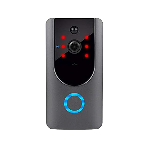 Cámara Smart Wireless WiFi vídeo HD timbre de la puerta de seguridad con detección de movimiento PIR Noche Vision 2 charla bidireccional y en tiempo real de vídeo adecuado, almacenamiento gratuito Clo