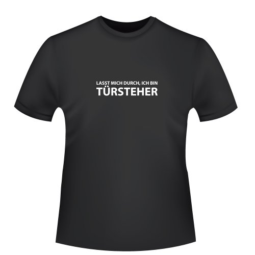 Seccion mich por la puerta de, ich bin montantes,–Camiseta para hombre–Comercio Justo, negro, 3XL