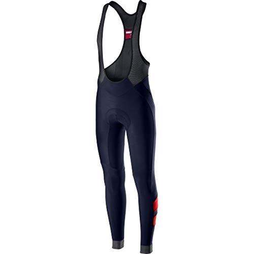 castelli Velocissimo 4 Bibtight, Pantalones Cortos de Ciclismo para Hombre, Hombre, 4519515, Savile Blue Rosso, L
