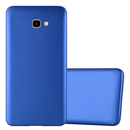 Cadorabo Custodia compatibile con Samsung Galaxy J4 PLUS in AZZURRO METALLICO - Morbida Cover Protettiva Sottile di Silicone TPU con Bordo Protezione - Ultra Slim Case Antiurto Gel Back Bumper Guscio
