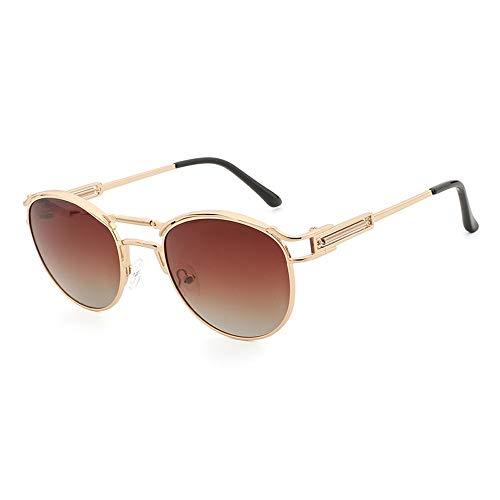 Sunglass Fashion UV400 Hombres Mujeres Retro Gafas Gafas Gafas de Sol Ultra Redondas (Color : Pink, Size : Free)