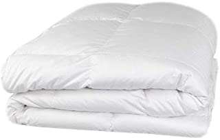 Organic Goose Down Alternative Comforter with Premium Organic Cotton Covering (Twin Light, White), Summer Light Weight, Hypoallergenic, Dust-Mite Resistant, Duvet Insert