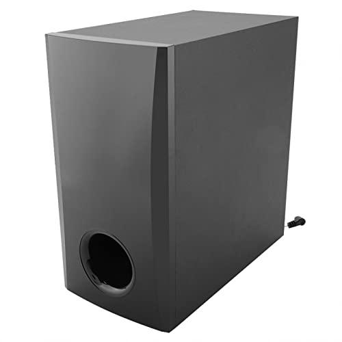 Barra de sonido Subwoofer, sistema de altavoces Subwoofer Caja rectangular con esquinas redondeadas Potente experiencia explosiva de graves para Home Theatre Tv Computadora Con capacidad para música