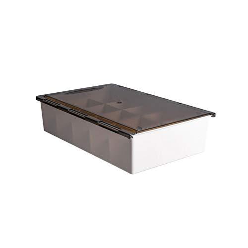 Caja transparente organizador de cajones versátil, para colgar calcetines, ropa interior, divisor de cajón, 15 celdas, organizador de armario