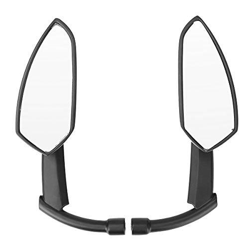 NICOLIE Espejos Retrovisores Traseros De Hoja CNC Negros De 8 Mm Y 10 Mm Compatibles con Harley Dyna Heritage Softail Sportster