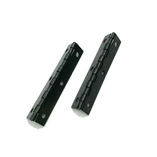 ZXQC 2pcs / Lote De Bisagras Bisagras Dobladas Largas De Hierro Negro para Cajas De Madera Cajas De Joyería DIY Hardware Hardware Bisagras