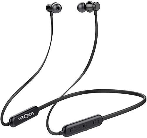 La' Forte Bluetooth Neckband Wireless Earphone - Bolt, Noise Cancelation, Inbuilt Mic (Black)