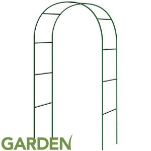 A2Z Home Solutions Garden Steel Tube Arch For climbing Plants Flowers Arbor Trellis Lawn Path Archway Yard