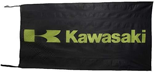 Cyn Flags Kawasaki SCHWARZ Fahne Flagge 2.5x5 ft 150 x 75 cm
