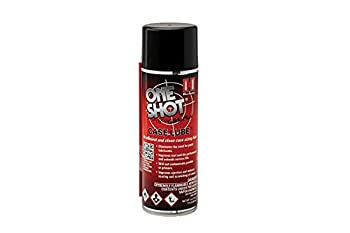 Hornady One Shot Case Lube 5 oz – Aerosol Dry Lube with DynaGlide Plus – Clean Non-Sticky and Easy to Use – Contains No Petroleum Won t Contaminate Powder or Primers