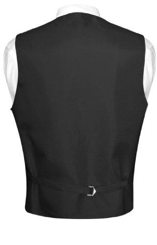 Men's Paisley Design Dress Vest & Bow Tie Navy Blue Color Bowtie Set
