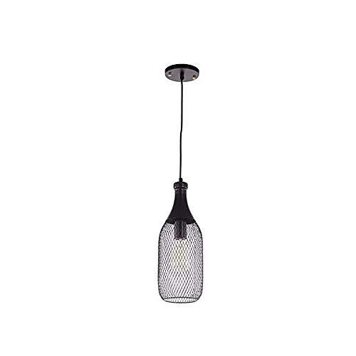 Chandelier de granja Lámpara colgante hueca en forma de botella, metal de hierro forjado E14 Lámpara de araña, 31 × 10cm Adecuado for Inicio / Restaurante / Tienda de ropa / Cafetería / Lámparas decor
