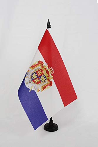AZ FLAG Bandera de Mesa del Reino DE Holanda 1806-1810 21x14cm - BANDERINA de DESPACHO Holandesa DE Bonaparte 14 x 21 cm