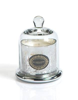 Zodax French RED Currant Antique Silver 4 oz Jar Candle with Dome