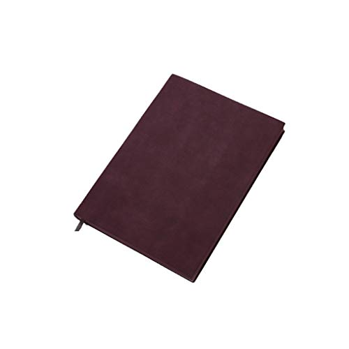 XXT Ejecutar ovejas Pi B5 Grande Suave Visita de Cuero Simple Notebook Reunión Creativa Espesado Bloc de Notas Notebook (Color : Wine Red)