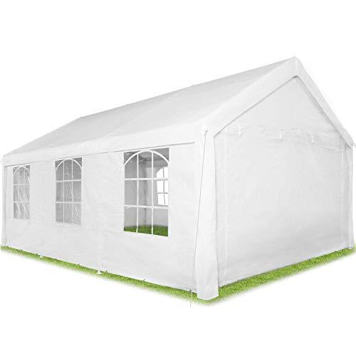 TecTake 403260 Pavillon 6 x 4 m, 100% WASSERDICHT, mit 4 Seitenwänden, sehr robuste Konstruktion, UV-beständig, inkl. Erdnägel und Spannseile – Diverse Farben -