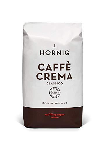 J. Hornig Kaffeebohnen Espresso, Caffè Crema Classico, 500g, schokoladiges & nussiges Aroma, für Vollautomaten, Siebträgermaschine oder Espressokocher, ganze Bohnen