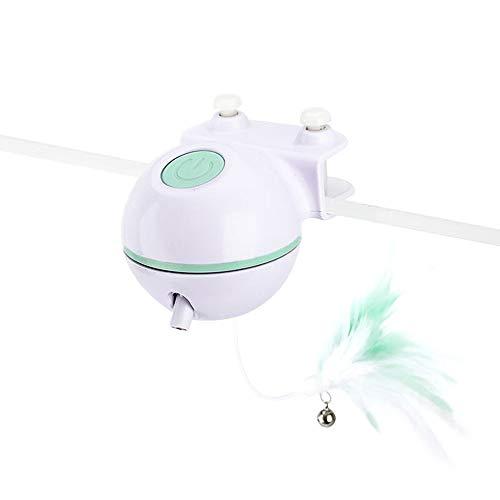 TYM LED-festes Katzenspielzeug, wiederaufladbares USB-Katzenspielzeug kann Sich automatisch drehen und die Aufmerksamkeit verbessern, geeignet für kleine Haustiere wie Katzen und Hunde. Grün