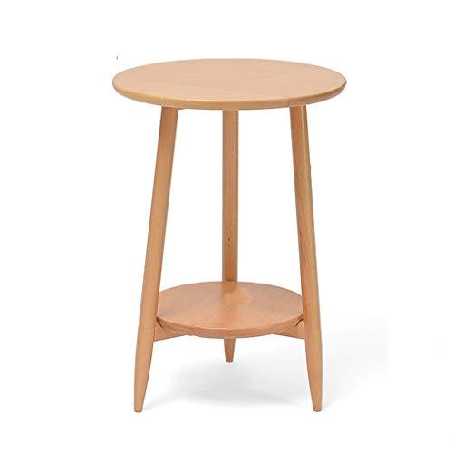 Table family CSQ Holz-Dreieckige Tisch, Double-Layer-Storage Rack Haushalt Sofa Beistelltisch Blumenladen Dekoration Blumenständer (Color : A, Size : 42 * 60 * 35CM)