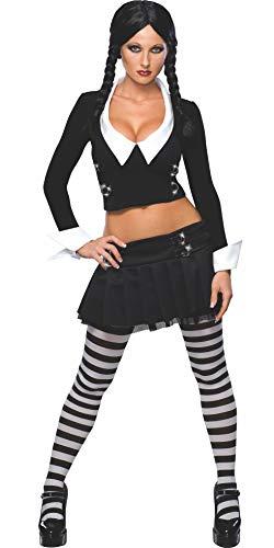Desconocido Disfraz de Miércoles de la Familia Addams para mujer
