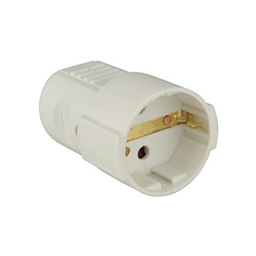 UNITEC 40550L Schuko-Kupplung mit Knickschutz ws, weiߟ