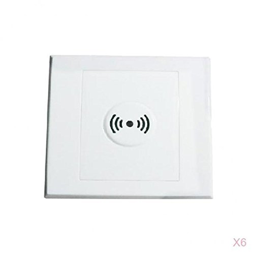 MagiDeal 6pcs Sprachsteuerung Akustikschalter Sound Lichtschalter Schallsensor Lichtsensor für Korridor Garage