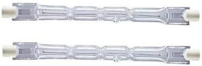 2 Pack Lighting 230W = 300W Eco Halogen R7s J118 Energy Saving Linear Halogen Floodlight Security Light Bulbs 118mm Length, 4650 lumen, 240V Dimmable Tabular Tungsten Lamps