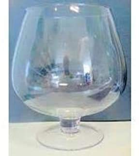 Oberstdorfer Glashütte Copa de coñac el Cristal XXXL Gigantes Copa de coñac Vidrio Claro para coñac la Altura Aprox. 23-24 cm de Contenido 4,5 litros