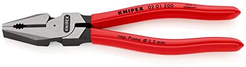 KNIPEX 02 01 200 Alicate universal para trabajos pesados negro atramentado recubiertos...