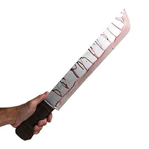 Rubber Johnnies Bloody Machete, Jungle Knife, Movie Prop, Halloween, vs Jason Silver