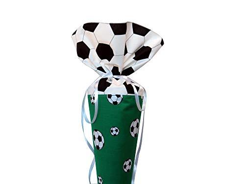 Schultüte aus Stoff Fußball in grün Zuckertüte für Jungen