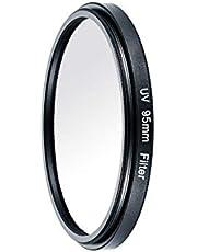 カメラフィルター、ニコンユニバーサルカメラ光学ガラスフィルター(95Mm)用キヤノン用カメラウルトラバイオレットUVフィルターレンズ保護フィルター