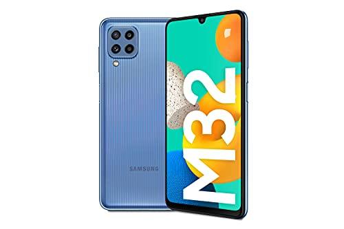 Samsung Smartphone Galaxy M32 con Pantalla Infinity-U FHD sAMOLED de 6,4 Pulgadas, 6 GB de RAM y 128 GB de Memoria Interna Ampliable, Batería de 5000 mAh y 25W Carga rápida Azul...