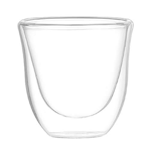 joyMerit Vasos de Vidrio Vasos de Café de Doble Pared Juego de 1 - Transparente con Aislamiento Térmico