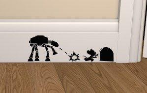 Epic Modz Star Wars ATAT vs Mouse Skirting Board Vinyl Decal Sticker wall art bedroom living room lounge car