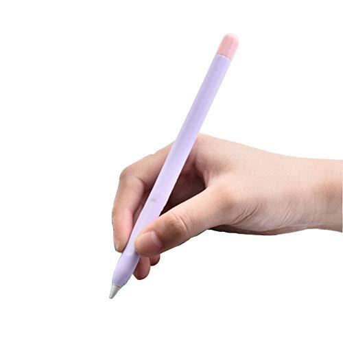 Fleymu Schutzhülle für iPencil Stift Case Cover Holder Halter Silikon Erstaz Elektronischer Stift Lila Hülle Ultra Dünn Pencil Abdeckung Zubehör für Apple Pencil 2 Zum Schutz Ihres