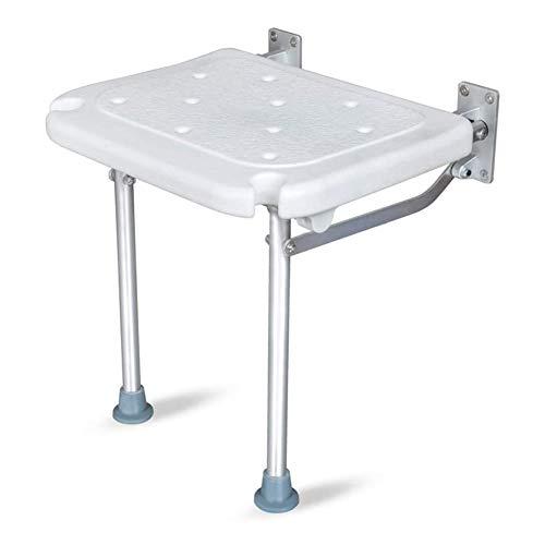 QNMM Klappbare Duschsitzbank Zur Wandmontage Mit Verstellbaren Beinen Und Duschwanne Für Schwangere, Behindertengerechter Badezimmerhocker
