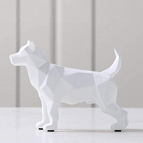 KUPR Estatuas Suministros de decoración de Estatua Escultura Estatua Personaje Origami Animal Perro Escultura Artesanía Decoración Creativa Adornos