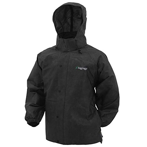 Frogg Toggs Unisex-Adult Pro Action/Advantage Rain Jacket , Large, Black