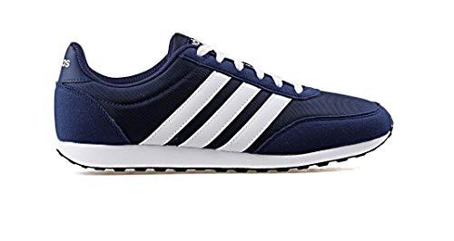 adidas V Racer 2.0, Zapatillas de Running para Hombre, Azul (Dark BlueFTWR WhiteFTWR White Dark BlueFTWR WhiteFTWR White), 44 EU