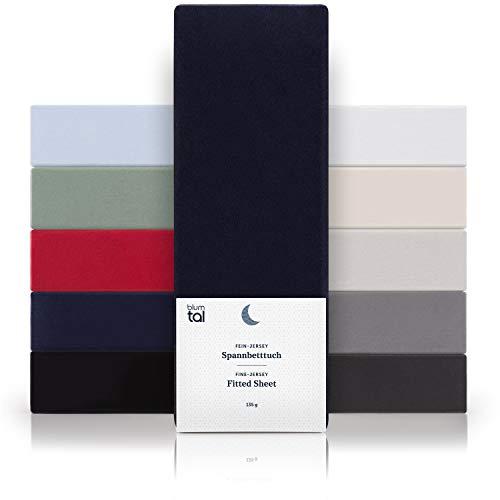 in jersey m/élange Lenzuolo con angoli Matrimoniale Basics Grigio 160 x 200 x 30 cm